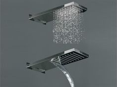 Stainless steel waterfall shower COCOON MONO 75 - COCOON