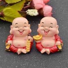 Feng Shui Collectible Chinese Happiness Wealth Laughing Buddha Sculpture Decorative Resin Statue