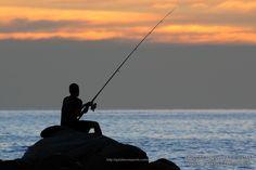 Fisherman silhouette            XOKA9554s   decorations