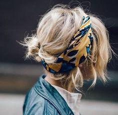 "cool Flayr on Instagram: ""De la couleur dans les cheveux #hairstyle #hairdo #blondhair #headband #bandana #bohemian #boheme"""