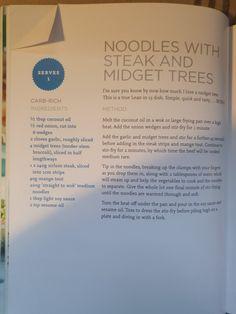 Bodycoach Recipes, Lean In 15, Joe Wicks, Blue Books, Wok, Noodles, Coconut Oil, Steak, Tasty