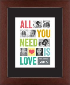 All You Need Is Love Framed Print, Brown, Contemporary, White, Black, Single piece, 11 x 14 inches