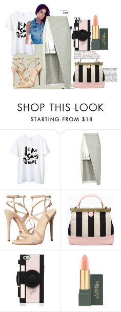 """""""Discovery"""" by marisolarias ❤ liked on Polyvore featuring Anja, D'Albert, Schutz, Kate Spade and MAC Cosmetics"""