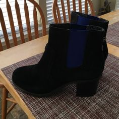 "Brand new Sperry suade ankle boots Beautiful royal blue elastic entrance for easy wear, little over 2"" heels with comfort.  Genuine suade leather!  It is an adorable piece.  Brand new with out the box.  Please enjoy:) Sperry Top-Sider Shoes Ankle Boots & Booties"