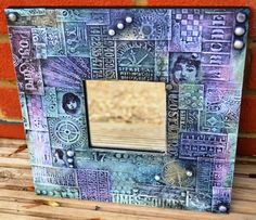 Last Saturday we had the wonderfully patient and very talented Andy Skinner come to teach at The Artistic Stamper . Mosaic Glass, Glass Art, Mosaic Art, Mosaics, Picture Frame Crafts, Picture Frames, Ikea Mirror, Arte Country, Homemade Christmas Cards