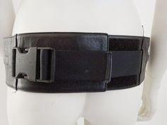Amazing miu miu black leather fanny pack hip bag unisex purse
