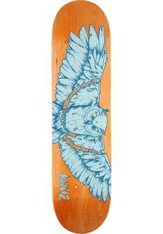 Antiz Fixed-Owl, Deck, orange-blue Titus Titus Skateshop #Deck #Skateboard #titus #titusskateshop