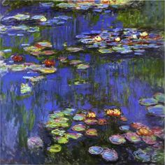 Waterlilies by Claude Monet. I love how abstract his waterlillies became.