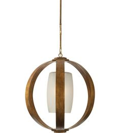 Visual Comfort E.F. Chapman Metal Banded 1 Light Pendant in Gilded Iron with Wax CHC2531GI #lightingnewyork #lny #lighting