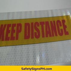 Keep Distance Prismatic Sticker Philippines Safety Message, Philippines, Distance, Messages, Stickers, Signs, Shop Signs, Long Distance