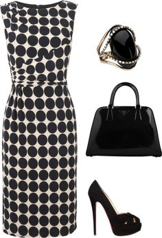 """Classic Black/ White"" by alisonswlee on Polyvore"