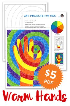 This color lesson project is a study in warm, cool and complementary colors in a fun and popular format.