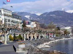 The beautiful lakeside town of Vevy, Switzerland, world headquarters of Nestle. My father worked at Nestle's in Vevey! Vevey, Places To Travel, Places To Go, Beautiful Places, Amazing Places, Lausanne, I Want To Travel, Adventure Awaits, Far Away