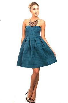 Vestidos de noche color azul petroleo