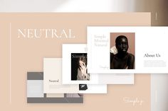 Neutral PowerPoint Template by Simple P. on Creative Market - Neutral PowerPoint Template by Simple P. on Creative Market - Effective Presentation, Design Presentation, Portfolio Presentation, Business Presentation, Presentation Templates, Presentation Skills, Marketing Presentation, Professional Powerpoint Templates, Creative Powerpoint
