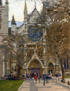North Door, westminster Abbey Ken Howard Picasso, Ken Howard, Oil Painters, Westminster Abbey, Weather Forecast, Cityscapes, Abstract Landscape, Art School, Great Britain