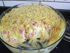 Torta Prende Marido (é cada nome ) Ingredientes: 2 caixas de creme de leite com soro 3 colheres (sopa) de farinha de trigo 500g de frango cozido e ... - Lucy Machado. - Google+