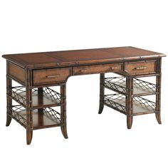Bal Harbor Malibu Desk in Sienna Rosewood (Matching items in this collection #desk #office #homeoffice #tropical #storage #beachhouse #lakehouse #homedecor #interiors #interiordesign