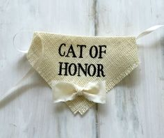 Cat of Honor - Wedding Cat Bandana with Bowtie