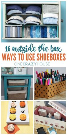 16 Ways to Use Shoeboxes That You've Probably Never Thought Of. Best organization tips reusing old shoe boxes.