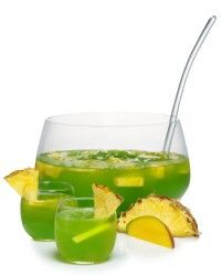 Midori Melon Liqueur Cabo Wabo Tequila Blanco mango juice pineapple juice Splash of Sprite Garnish: pineapple and mango slices Combine all ingredients in a punch bowl or pitcher filled ice. Stir gently and garnish with pineapple and mango slices. Whiskey Cocktails, Cocktail Drinks, Cocktail Recipes, Party Platters, Party Food And Drinks, Fun Drinks, Alcoholic Drinks, Fruit Party, Mixed Drinks