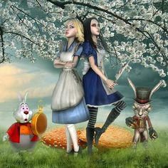 Kind of the concept I was thinking for my next tattoo. Disney Alice vs. Madness Returns Alice