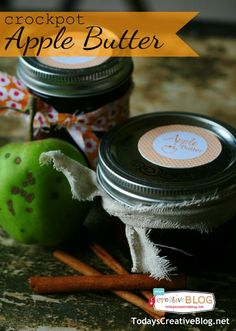 Crockpot Apple Butter Recipe | Apple Butter is so delicious spread on toast or even drizzled over ice cream!  Slow Cooker Sunday | See more Slow cooker recipes on TodaysCreativeLife.com
