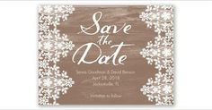 David's Bridal save the date