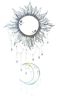 """Tell me the story of how the sun loved the moon so much he died every day to let her breathe."""
