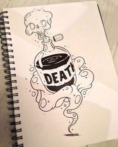 halloween drawings Death by Alexandre Godreau Tattoo Drawings, Art Drawings, Cool Drawings Tumblr, Crazy Drawings, Desenho Tattoo, Drawing Sketches, Drawing Ideas, Drawing Drawing, Cool Sketches