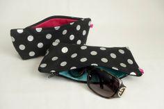Silver Dot Sunglasses Zip Case