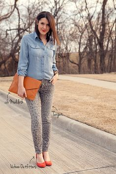 chambray + grey jeans