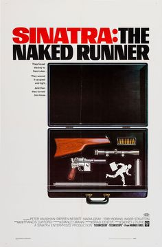 US one sheet for THE NAKED RUNNER (Sidney J. Furie, USA, 1967) Designer: unknown Poster source: Heritage Auctions