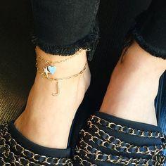 Charm anklets ☀️💙 the perfect summer accessory! . . . . . #jenniferfisher #jenniferfisherjewelry #charms #enamel #jfcharmnecklaceotd #gold #silver #jewelry #style #ootd #personalstyle #instagood #instastyle #instadaily #instalike #instafashion