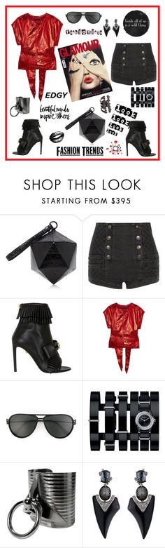 """Fashionista look"" by zabead ❤ liked on Polyvore featuring Nancy Gonzalez, Pierre Balmain, FAUSTO PUGLISI, Isabel Marant, Butter London, Versace, Chanel and Alexis Bittar"