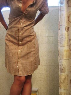 Shirt Dress- this is really cute, but you need to use a really large shirt in order to make the dress long enough.