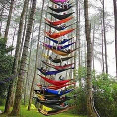 All stocked up on ENO! Hammocks as far as you can see!!! Come grab your favorite colors today. #eno #hammocklife by @saltysboardshop