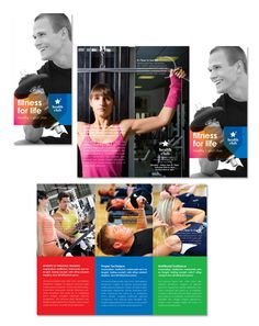 Fitness & Health Sports Club Tri Fold Brochure Template