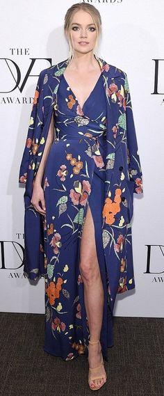 Lindsay Ellingson in Diane Von Furstenberg attends the 2017 DVF Awards. #bestdressed