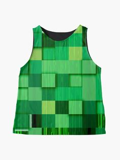 Cute Funky and Unique Distressed Shades of Green Color Block Print Sleeveless Top Hipster Shoes, Hipster Outfits, Hipster Fashion, Hipster Clothing, Blouses For Women, Women's Blouses, Green Handbag, Retro Shirts