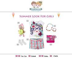 #Summer #look for #girls from  #TucTuc #Boboli #Haba #Clarin.  Check at www.kidsandchic.com/girl    #girlsclothing #girlsfashion #kidsfashion #trendychildren #kidsclothing #shoppingbarcelona #tshirts #shorts #toys #socks #yewerly #bags