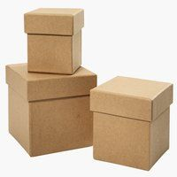 Krabica LARES 3ks/bal hnedá