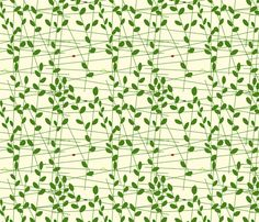 vll_little_leaves fabric by victorialasher on Spoonflower - custom fabric