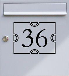 Hausnummer zweistellig 01 - Briefkastentattoo - Wunschzahl, Wunschfarbe - von Design Out Of Norm