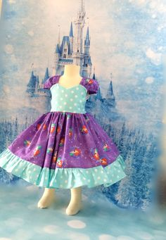 The little Mermaid Ariel dress size 2T ready to ship by SoSoHippo