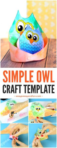 Simple Owl Craft Template for Kids