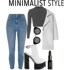 MINIMALIST by dopegeezy on Polyvore featuring Topshop, MANGO, Quay and Gorgeous Cosmetics