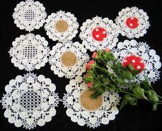 Advanced Embroidery Designs - FSL Battenberg Cherry Lace Doily Set