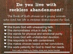 The Book of Ruth ...  I need to do more of this.