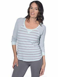 $88.00 nice Splendid Mills Women's Stripe Thermal Pullover